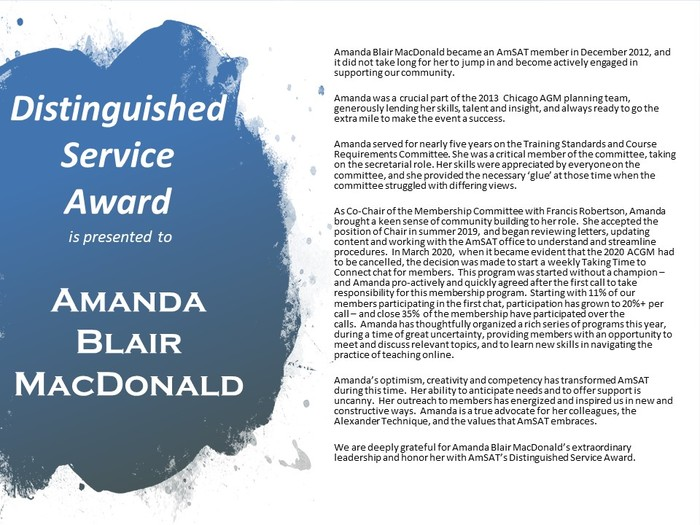 2020 Dsa Award